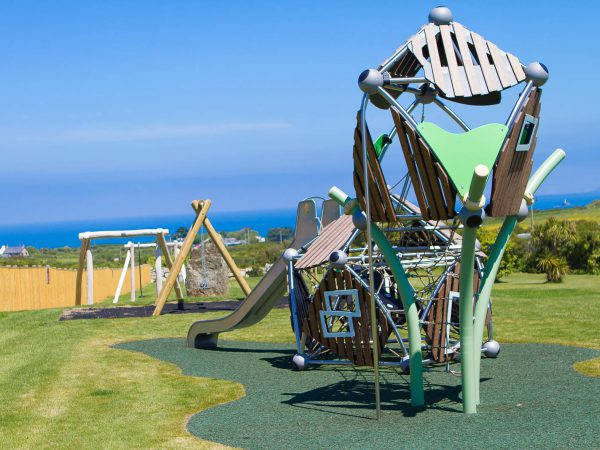 Outdoor playgrounds at Polmanter Touring Park St Ives