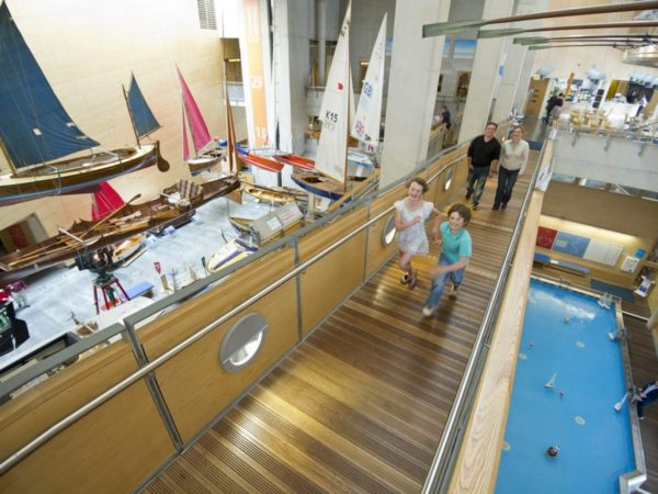 Children exploring the national maritime museum