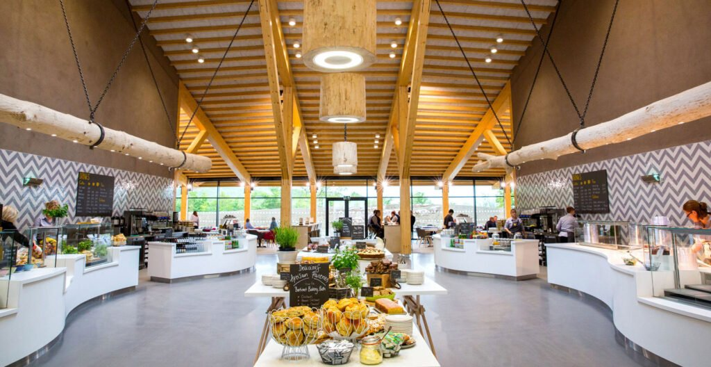 Food hall at Gloucester Services