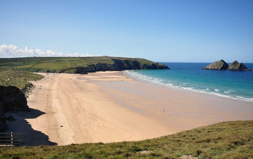 Cornish beaches: Holywell Bay