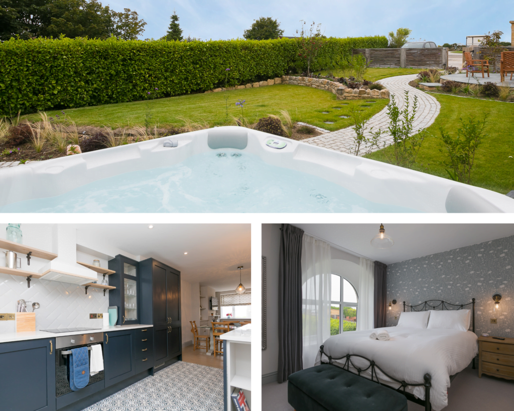 Trio of images for self catering cottage Morwenna, available for Christmas and New Year holidays