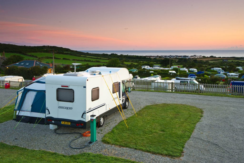 Multi serviced hardstanding touring pitches at Polmanter Touring Park St Ives