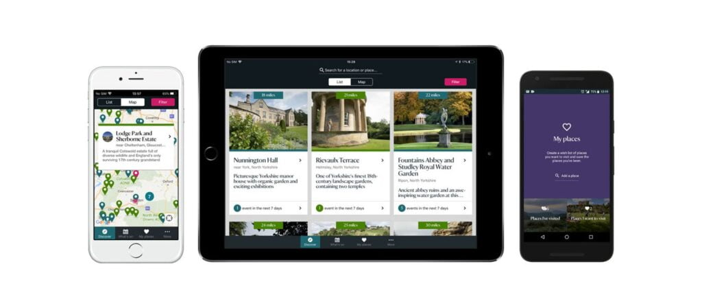 Apps for Cornwall: National Trust