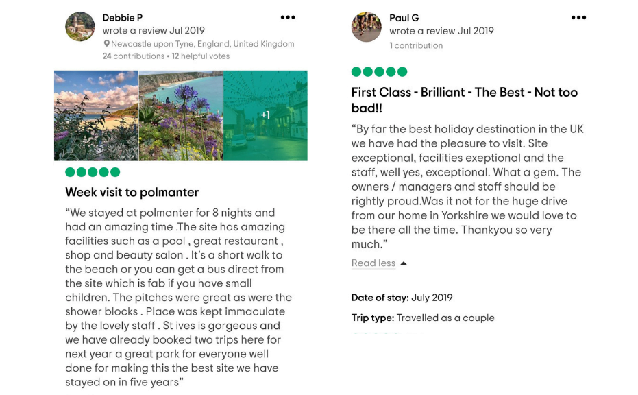 July Tripadvisor reviews from guests that have stayed at Polmanter Touring Park