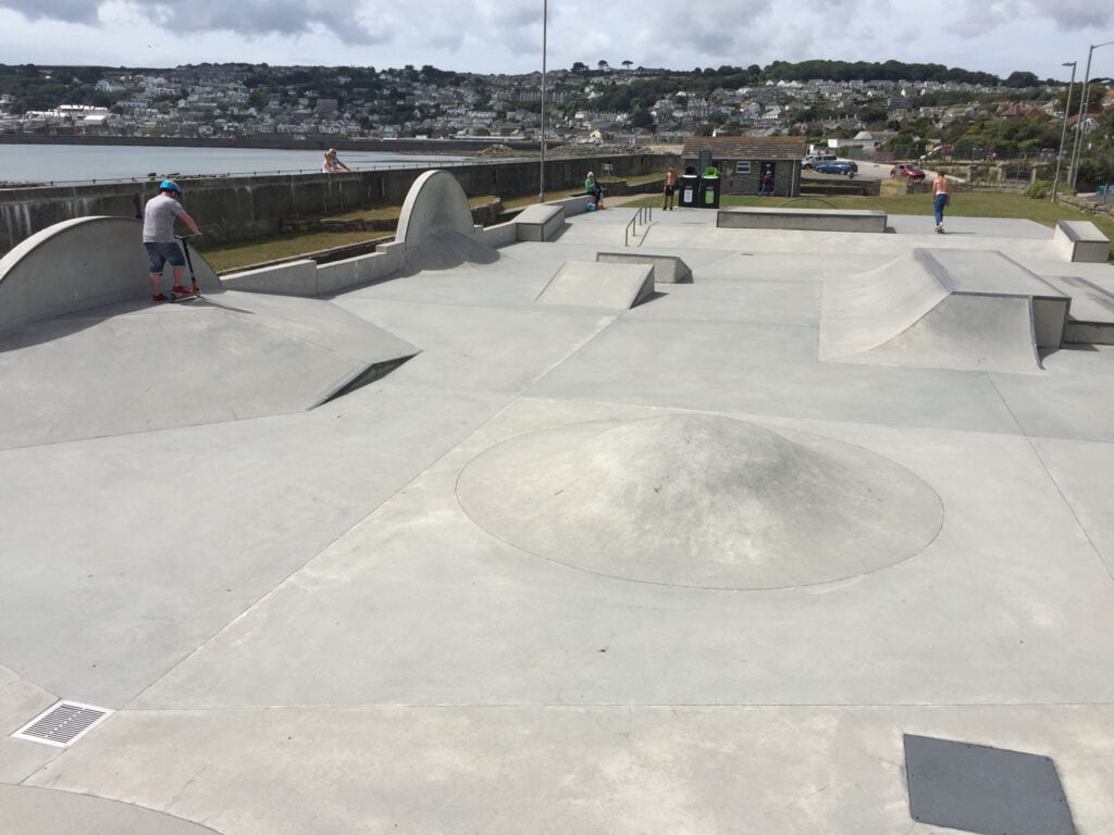 Wherrytown Penzance Skatepark, Cornwall