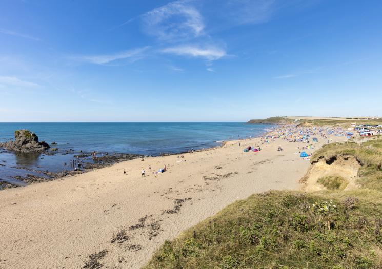 Cornish beahces: Widemouth Bay