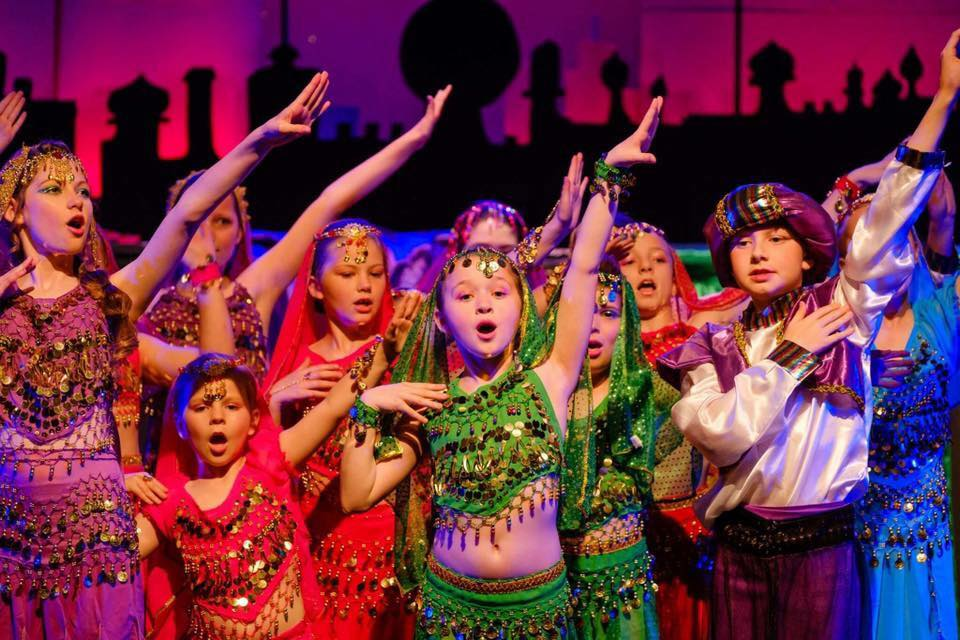 Theatre group Kids R Us performing Aladdin