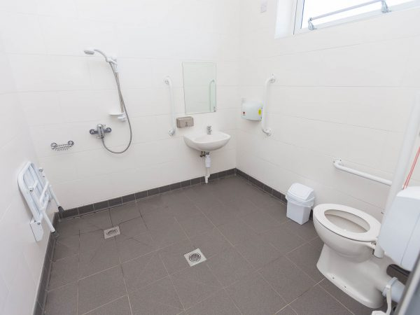 Accessible toilets and shower at Polmanter Touring Park St Ives